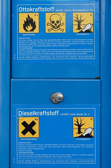 Gas station warning signs | Warnhinweise für Otto- und Diese… | Flickr