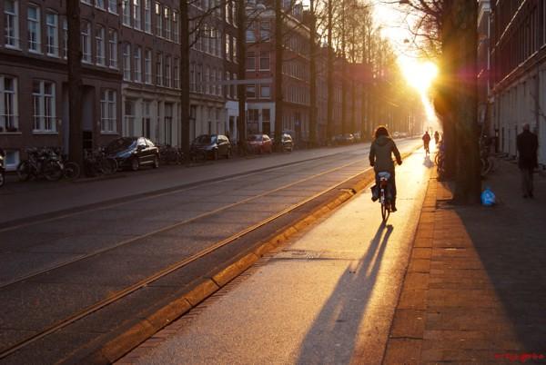 Cycling towards the sun