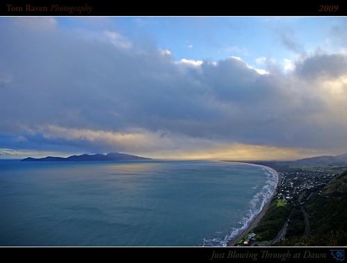 ocean light sea newzealand sky sun clouds sunrise reflections geotagged coast interestingness surf framed explore frontpage 2009 kapiti kapitiisland explorefp tomraven mychillybin geo:lat=41004208 geo:lon=174938414 q209