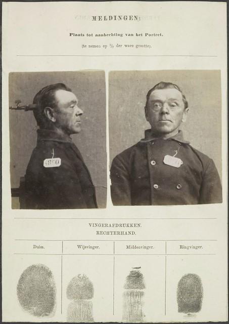 Jan ten Wolde , prisoner , portrayed in 1896