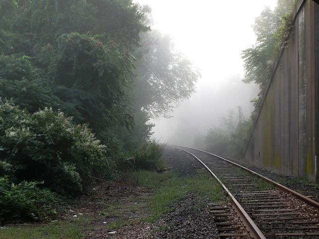 Middletown tracks and mist