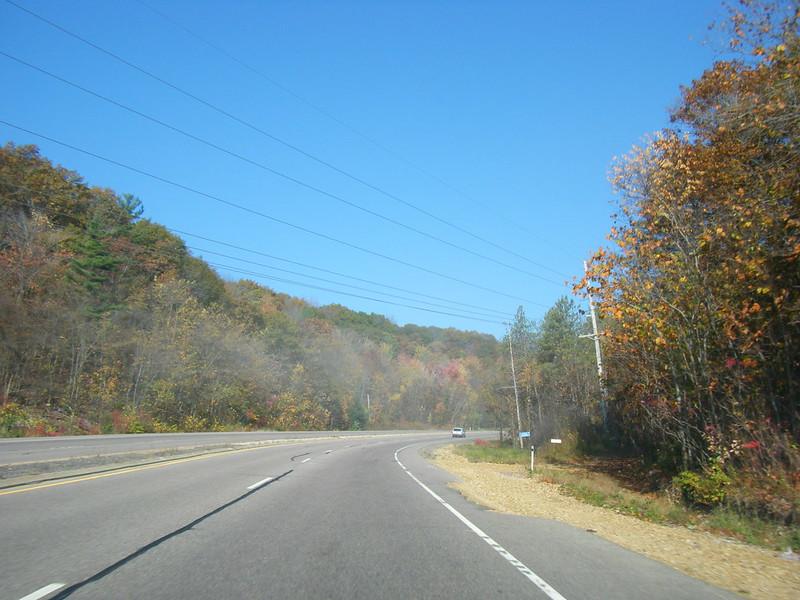 Highway fog dissipates