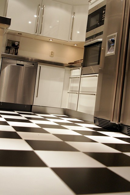 Black, White and Stainless Steel