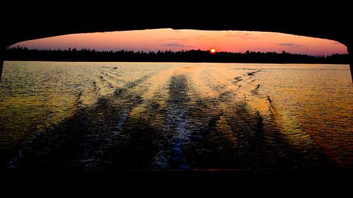 sunset wisconsin canopy siren pontoon wildcurl
