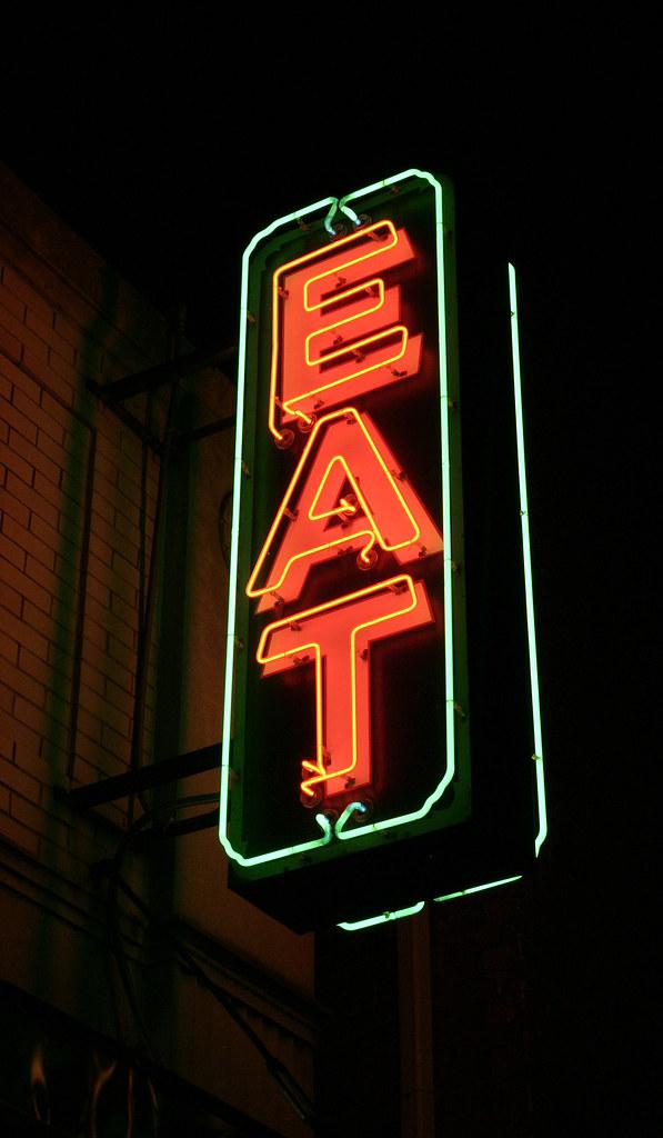 Eat Neon Sign | Neon sign on Eat Bar  | Rich Kaszeta | Flickr