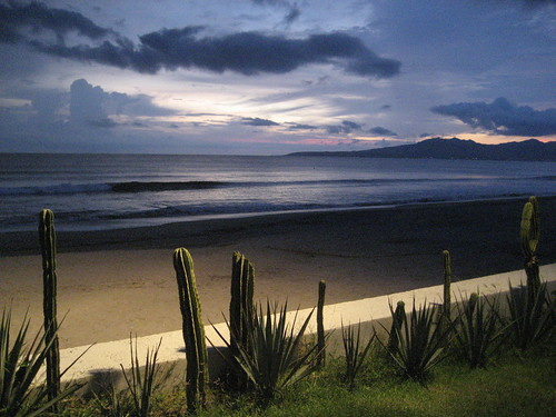 ocean sunset cactus beach night clouds sunrise mexico sand waves tropical ambience therebeastormabrewin