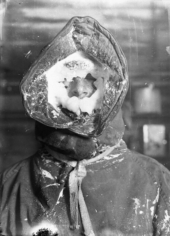 Ice mask, C.T. Madigan, between 1911-1914 / photograph by Frank Hurley