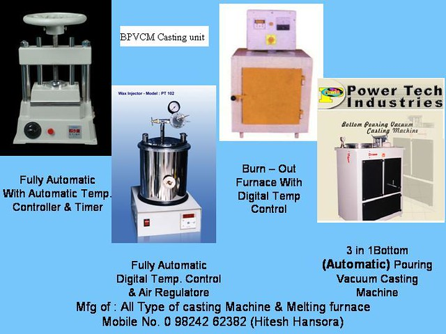BPVCM Gold Casting Machine or Jewellery casting machine or