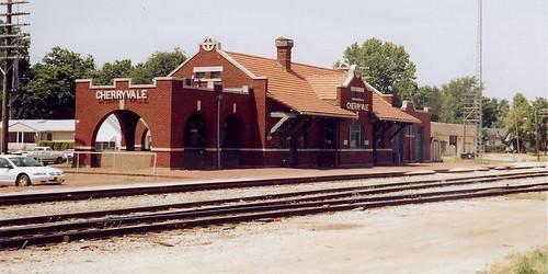 kansas railroad station depot us169 1910 missionstyle atchisontopekasantaferailway cherryvalekansas montgomerycounty