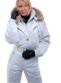 Blondie with White onesie & black lather gloves