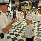 Sea Cadet Presented With Coin