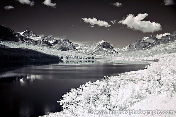 Lake Sherburne in Infrared
