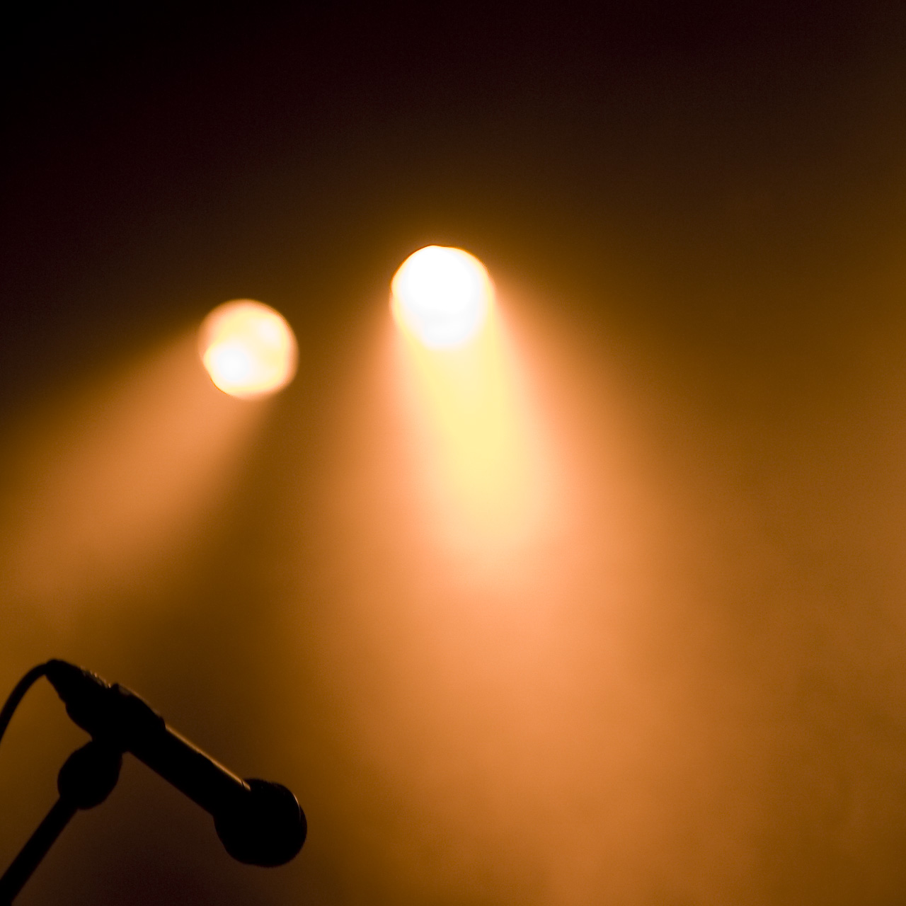 Microphone and Spotlights
