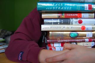 who thinks i have a book problem? (274/365)   by sleepyneko