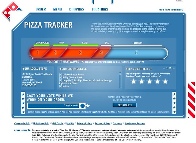 Domino S Pizza Tracker Jessica And Lon Binder Flickr