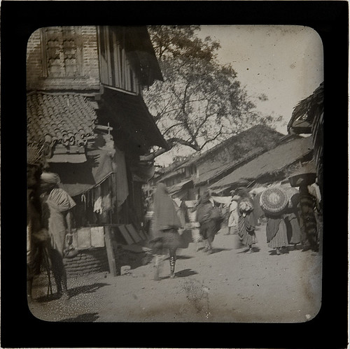 Busy street scene, Breel(?), India, c.1900 | by whatsthatpicture