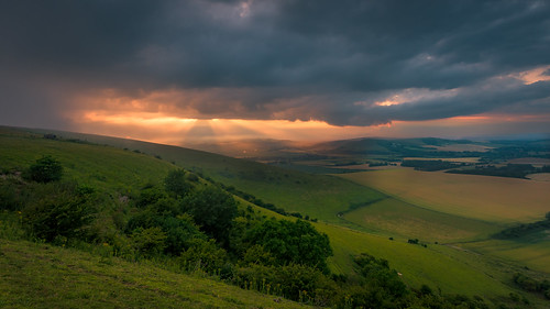 sunset sussex evening southdowns firlebeacon