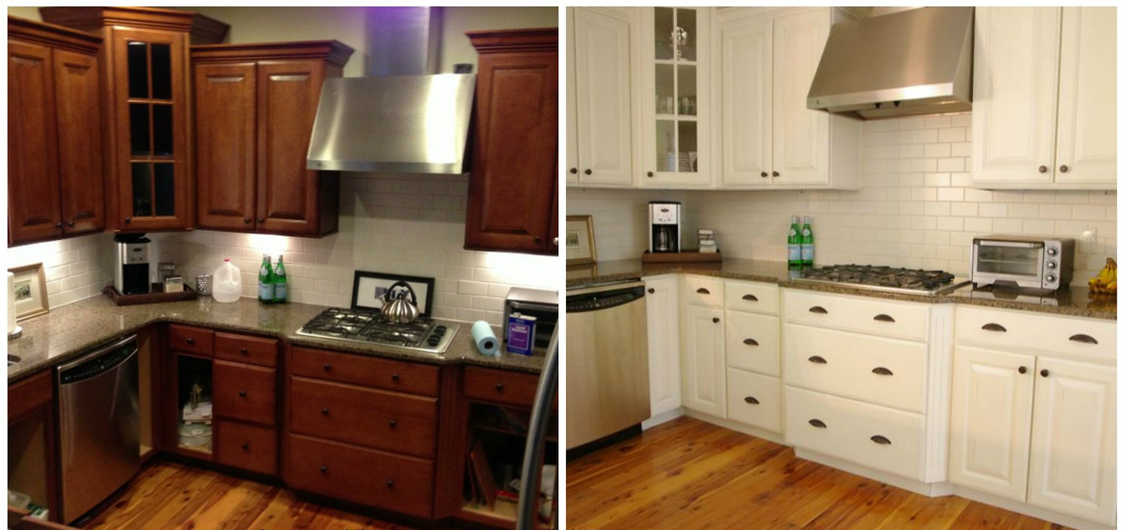 Refinish Paint Kitchen Cabinets Before After Llsheilall