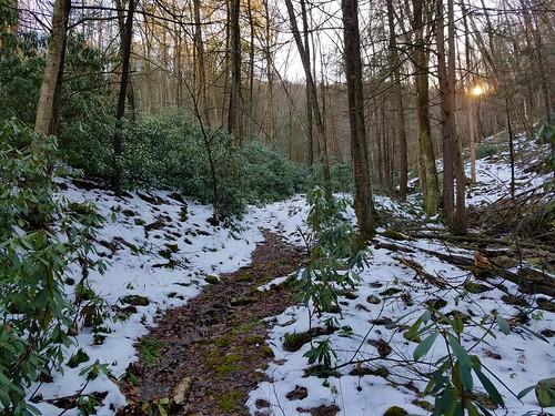 Bottom of Graff Woolever Trail