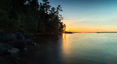 arnprior ottawariver robertsimpsonpark sunset ontario canada ca