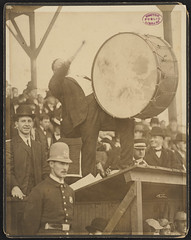 Royal Rooter beating a drum, 1903 World Series | by Boston Public Library