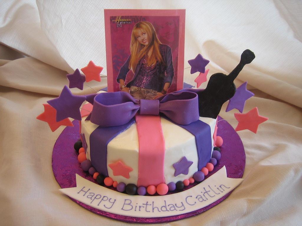 Groovy Hannah Montana Birthday Cake Hannah Montana Birthday Cake Flickr Birthday Cards Printable Inklcafe Filternl
