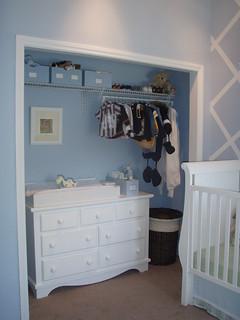 Baby Blue Nursery Closet   by Project Nursery