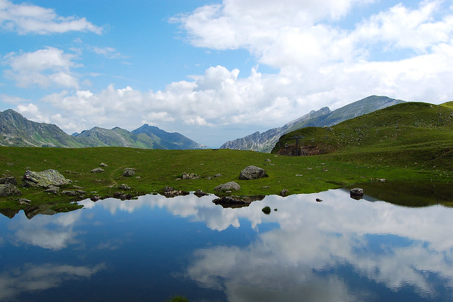Summer's reflection in the Austrian Alps