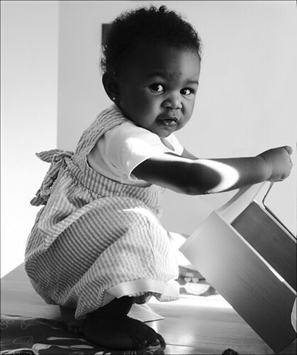 Busy Baby | this is my niece she was sitting on the table ...