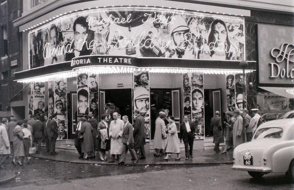 huge discount fbfed 2e745 ... Astoria Theatre (cinema), Charing Cross Road, London, mid-1957
