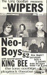 Wipers Poster - Inputs 1st Gig (Portland 1978) | Poster for
