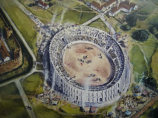 Chester - 2nd amphitheatre - built c.180AD - drawing | by The Classical World