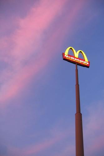 sunset virginia mcdonalds roadsign