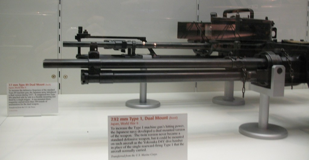 Japanese aircraft machine guns of WWII | 7 7 mm Type 89 Dual
