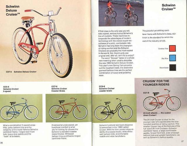 1980 schwinn Cruiser Catalog | Arturo Sotillo | Flickr