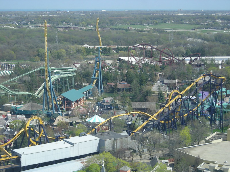 Six Flags Great America Aerial