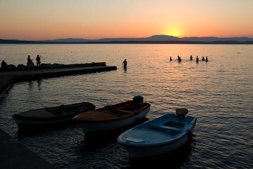 kroatie crikvenica kroatië zee hrvatska sunset zonsondergang beeldmark geo:lat=45176289 geo:lon=14685577 croatia kvarner croatian pentax k10d