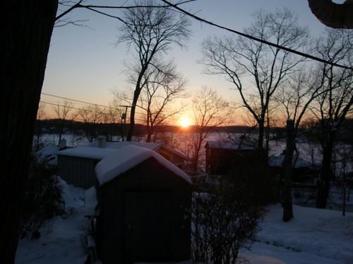 winter sunrise bay cove nj byram lakehopatcong