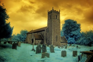 Infrared All Saints church Thornage Norfolk | by Brokentaco