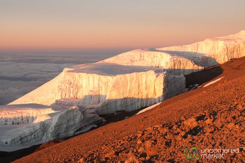 africa mountains ice kilimanjaro mtkilimanjaro sunrise tanzania dawn mountkilimanjaro glaciers eastafrica gadv marangutrail dna2tanzania