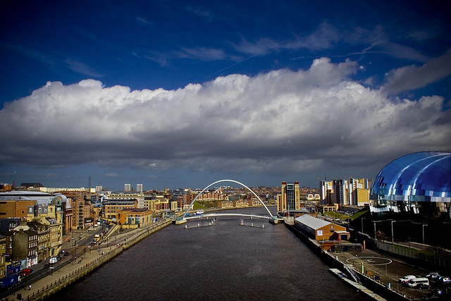 Clouds on the Tyne