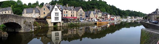 panoramique port de Dinan, Bretagne
