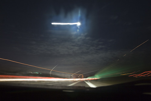 365 #33: 30 second exposure facing the full moon on the high way | by stynxno