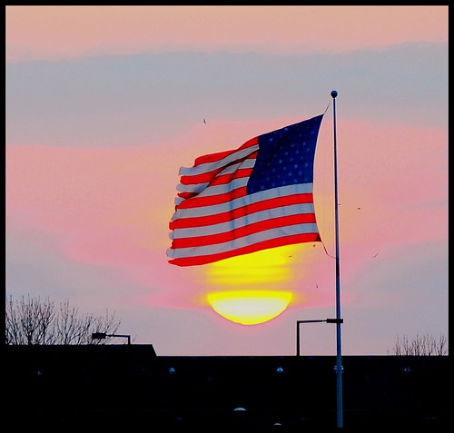 sunset usa minnesota america twilight flag minneapolis twincities saintpaul
