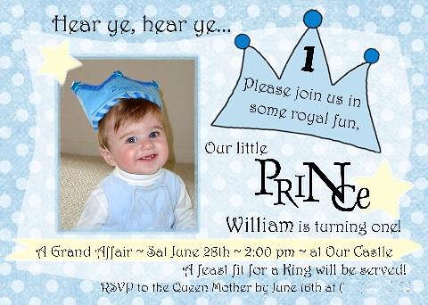Little Prince 1st Birthday Invitation Amyscustomgreetings Flickr