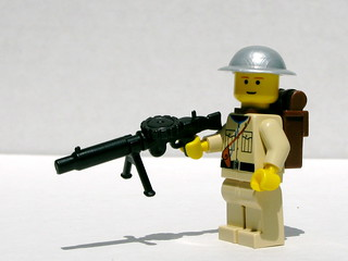 BrickArms Lewis gun and Brodie helmet prototypes | by Dunechaser