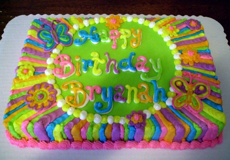 Awe Inspiring Neon Birthday Cake Sweet Lauras Flickr Birthday Cards Printable Riciscafe Filternl