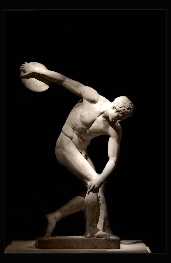 In The Spirit Of Olympics The Discus Thrower Seen At