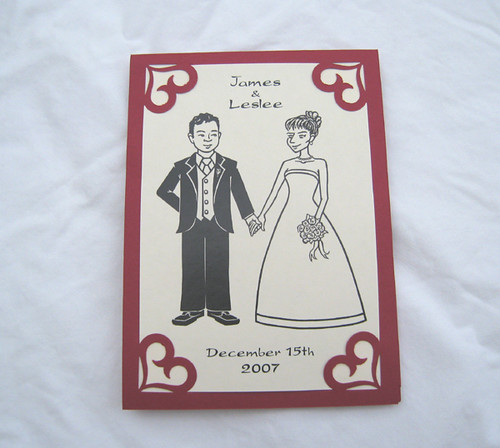 Homemade Wedding Invitations Here Is The Front Of The Invi