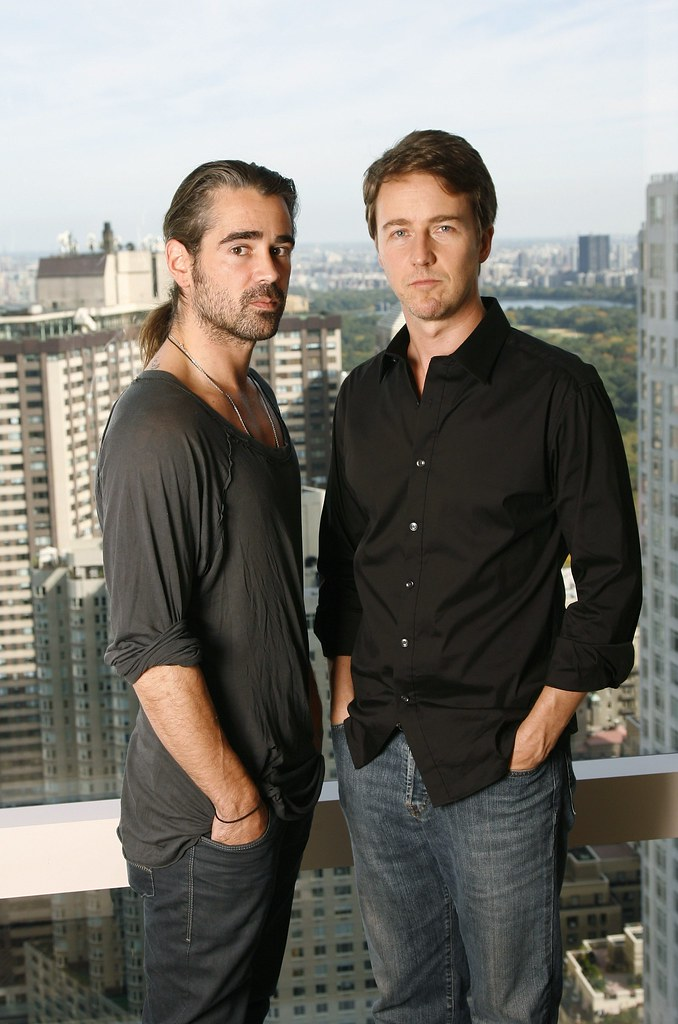Edward Norton & Colin Farrell   New York, October 15, 2008 ...